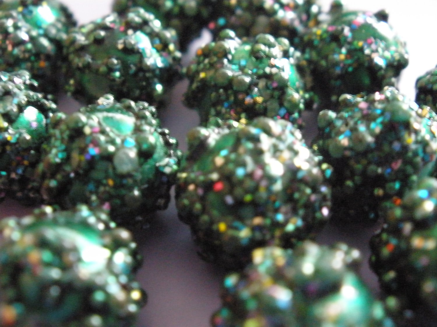 Vintage Glass Frit Sugar Beads (4)