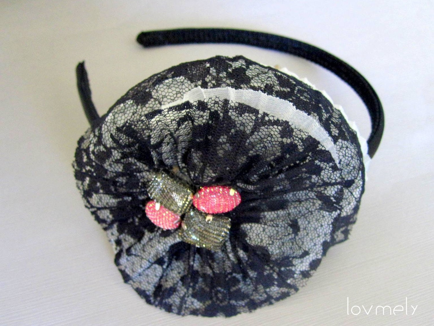 BROOKLYN lace flower headband