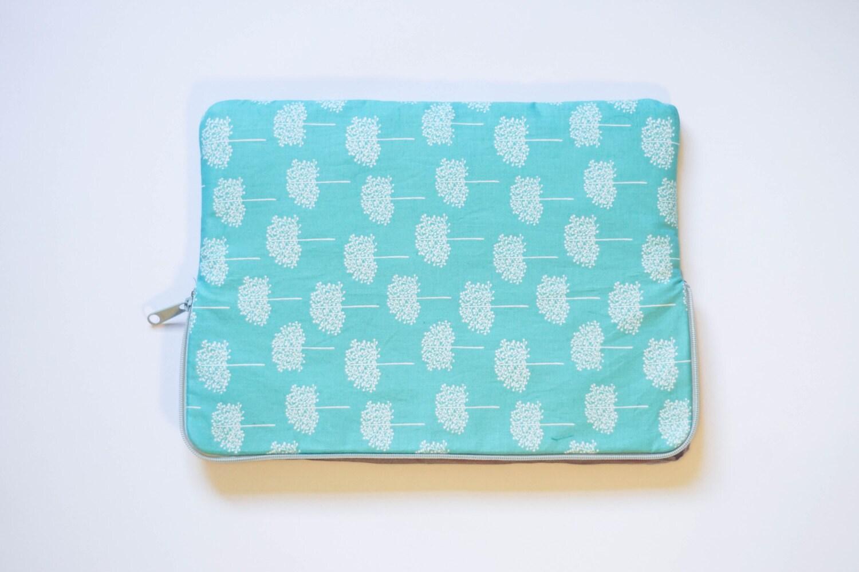 Forest  Cotton Print  MacBook Pro Sleeve  Laptop Sleeve  Laptop Case  Laptop Bag