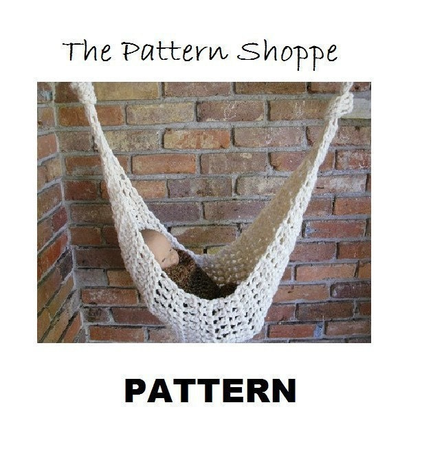 CROCHETING PATTERN infant hammock hanging newborn by PropShop