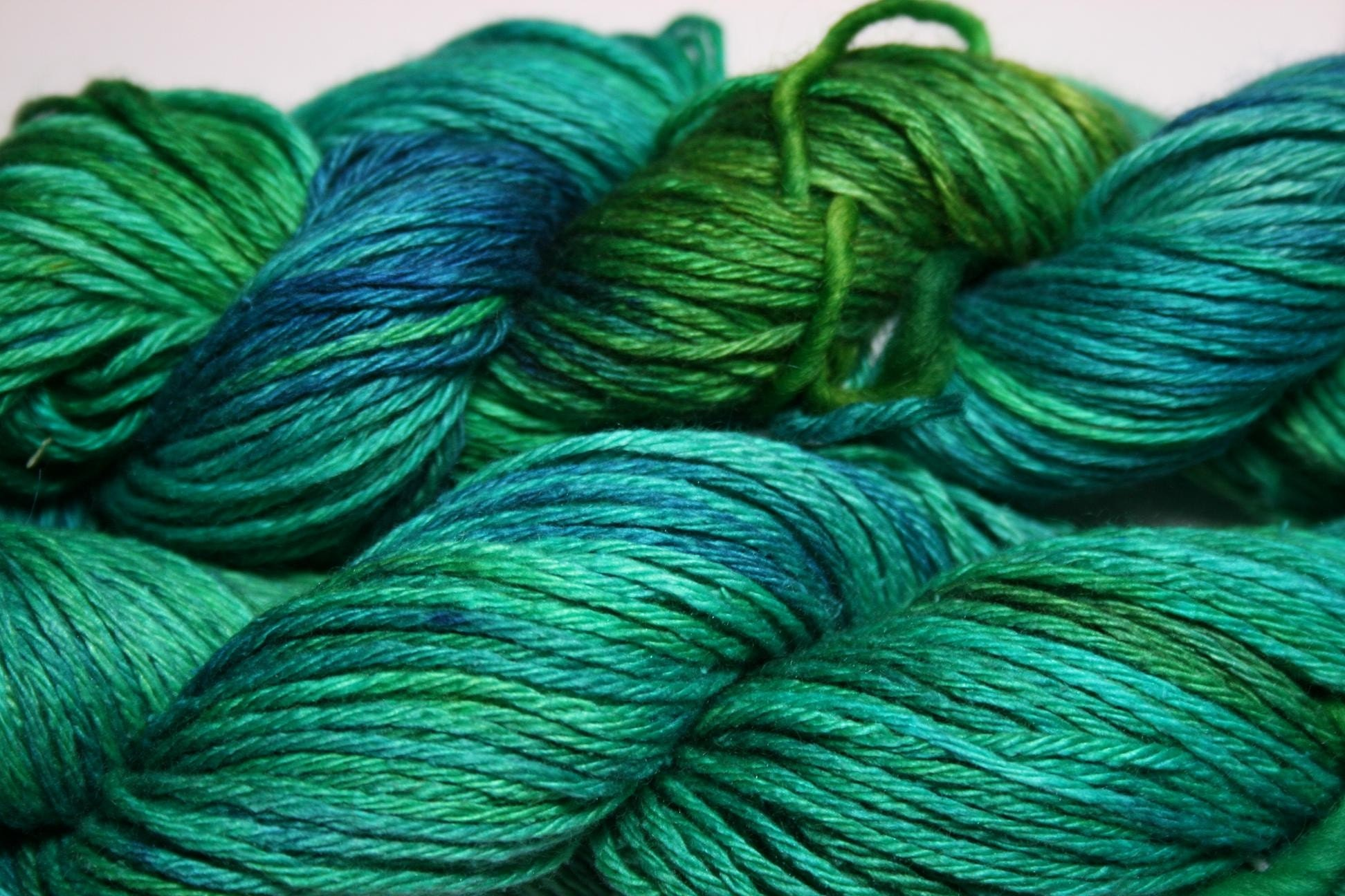 Neptune Gaia DK Yarn hand-painted in blues and greens