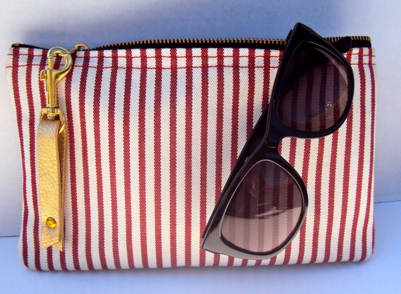Candy Stripped Clutch
