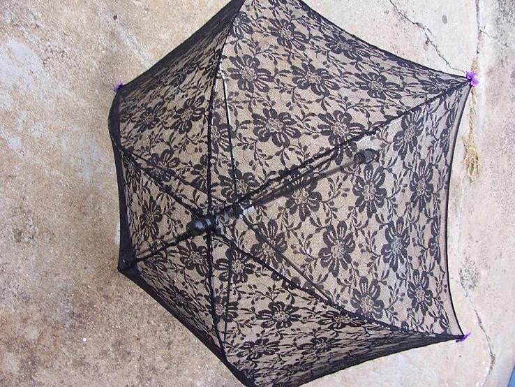 Black Lace Parasol