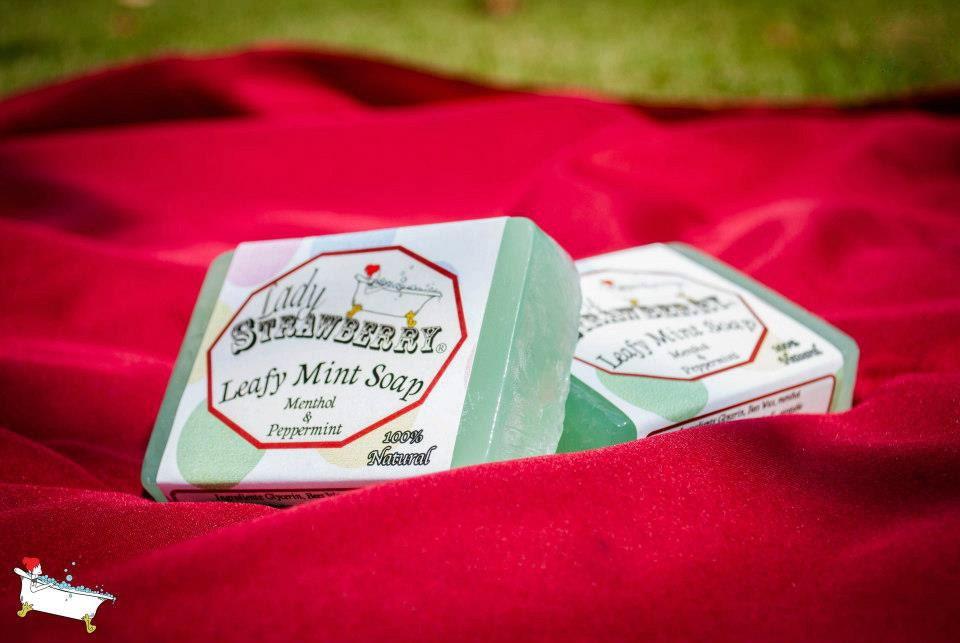 LEAFY MINT Soap - LadyStrawberryCo