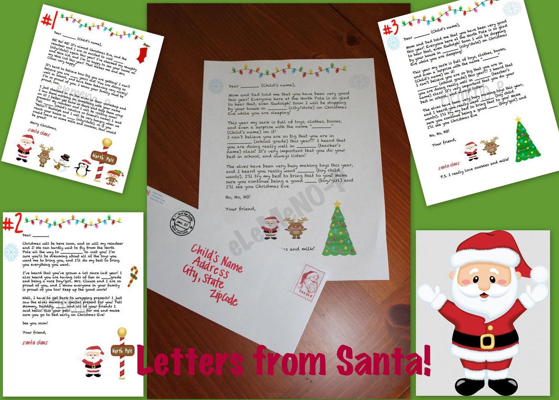Personalized Letters from Santa - eLeMeNOPkids