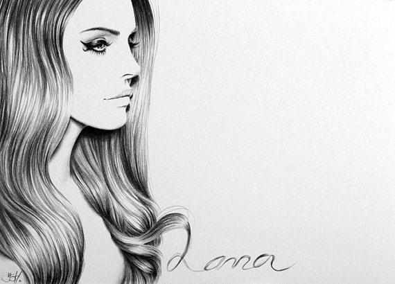 lana del rey art print - photo #25