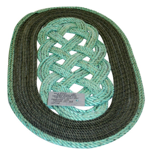 Items Similar To Nautical Rope Green & Gray Upcycled Rope