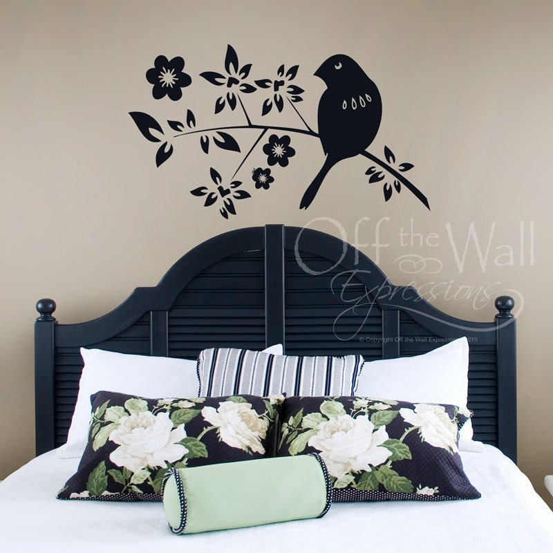 Blossom Branch with Bird Vinyl Decal