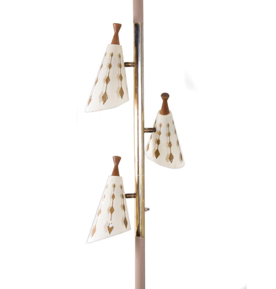 Light Pole Collapse: Vintage Pole Lamp Tri-Light Tension Lamp By Artmyth On Etsy
