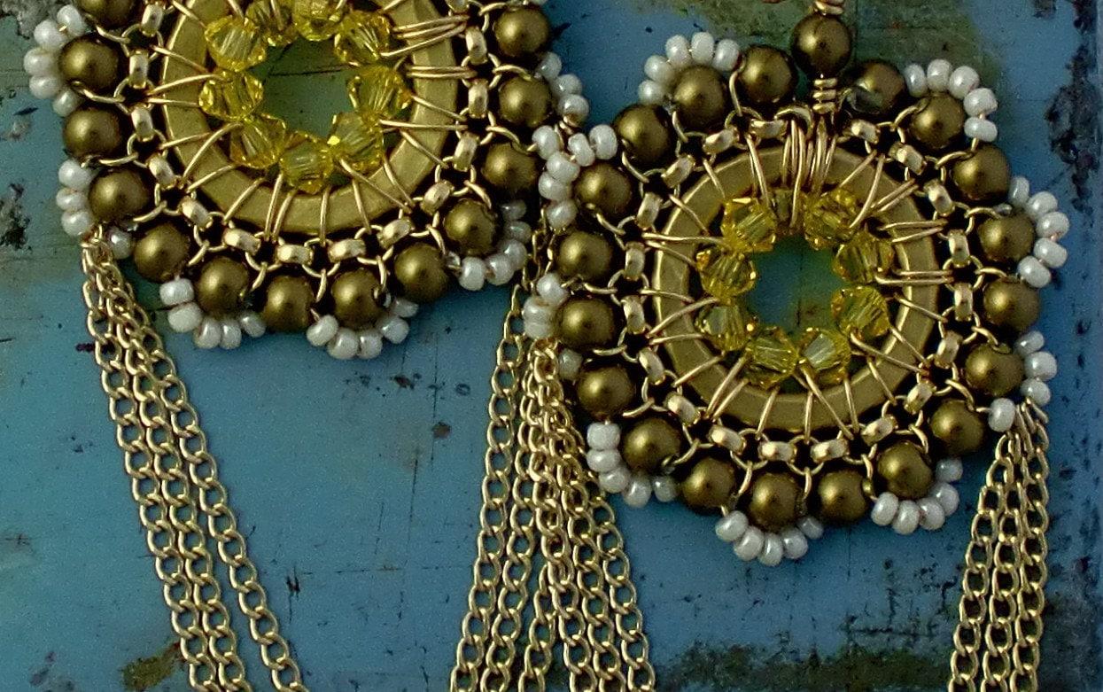 50% off SALE Fiona Mae's Sandcastle Earrings