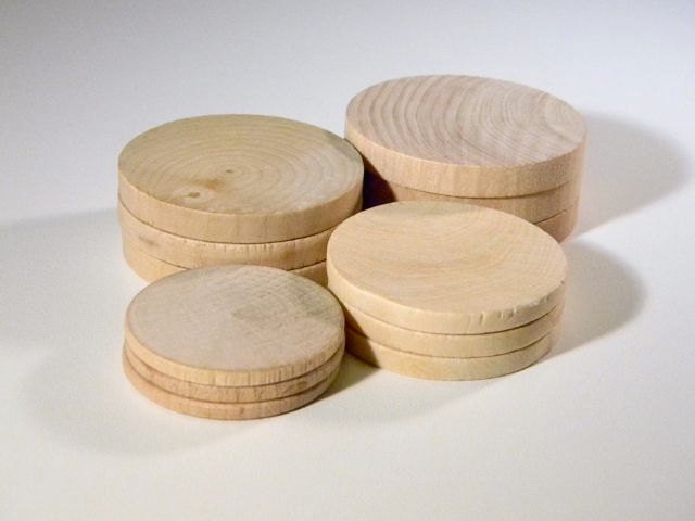 Items similar to Round Wood Pieces for Jewelry or Crafts ...