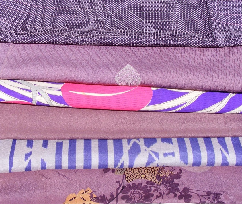Kimono Silk Fabric Assortment #19