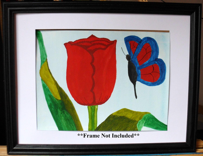 Tulips IV - Original Watercolor Painting