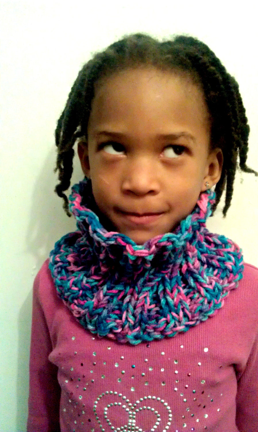 Girls Knit Cowl, Circle Scarf, Infinity Scarf
