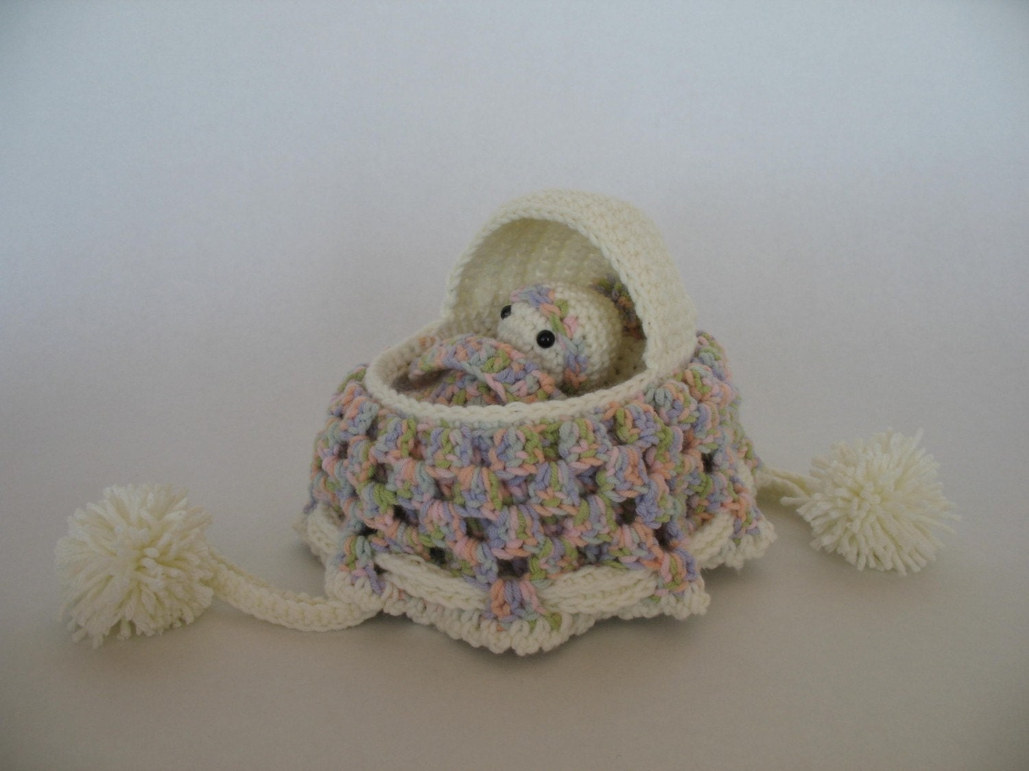 Crochet Baby Cradle Purse Pattern : Crochet Cradle Purse Pattern by djonesgirlz on Etsy