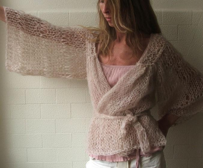 Soft Creamy pink kimono cardigan  approximately 4-5 left in this shade