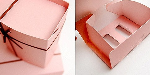 Milky Pink Gift  Boxes -  143mm x 95mm x 67mm (Set of 3)