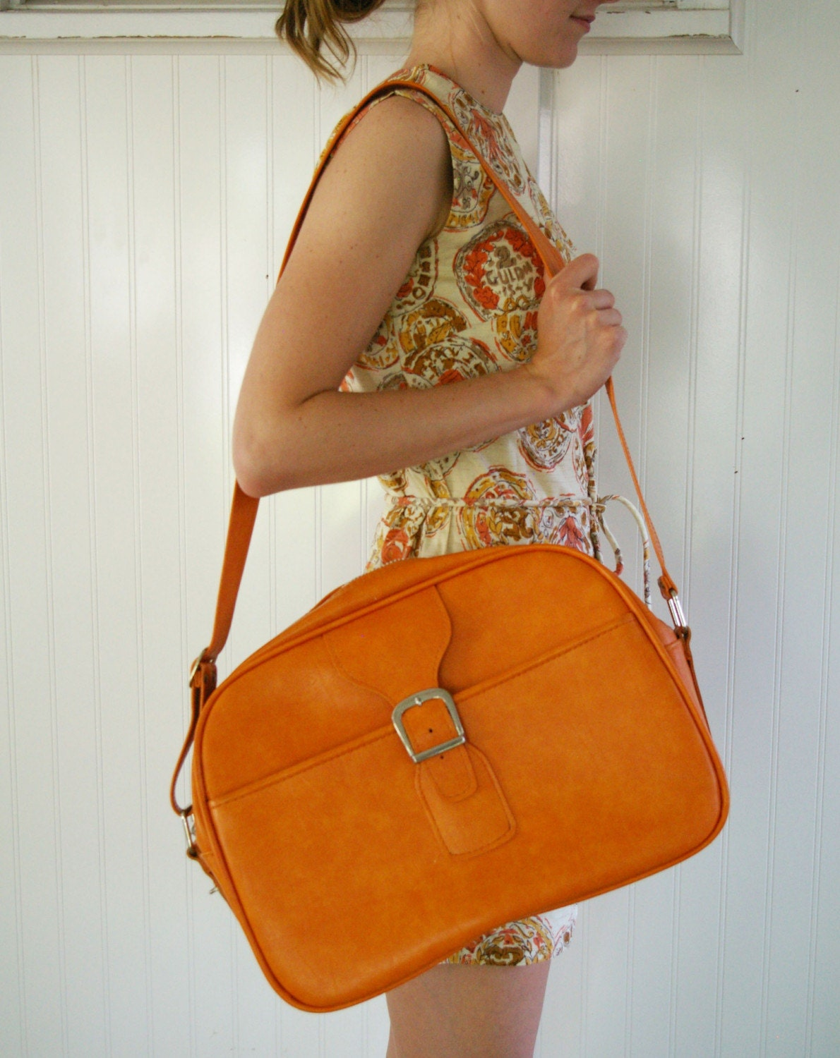 Vintage ORANGE CRUSH Travel Bag by MariesVintage on Etsy