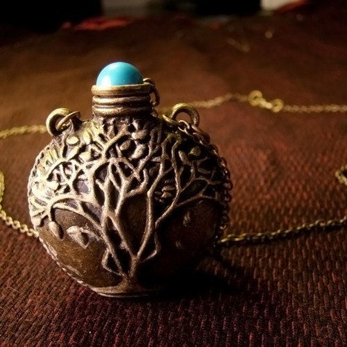 Tree of LifeTribal Bedouin Potion Snuff Bottle Pendant Necklace