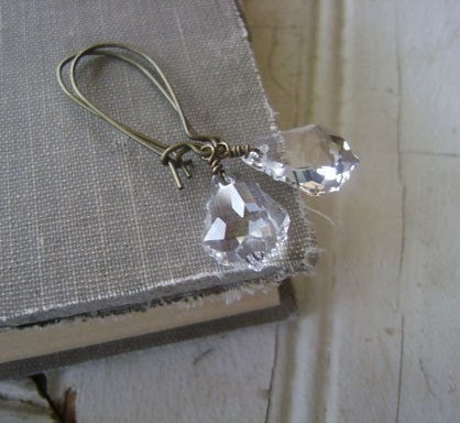 SALE. baroque crystals.earrings