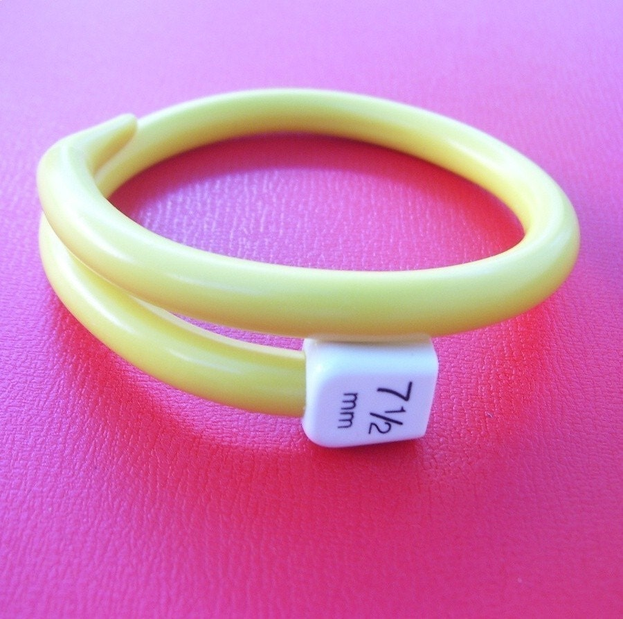 Yellow Knitting Bangle by Liana Kabel