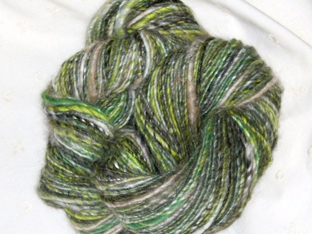 Knitting Patterns Angora Wool : HANDSPUN ANGORA ALPACA BAMBOO SILK WOOL MIX YARN FOR by sdspin