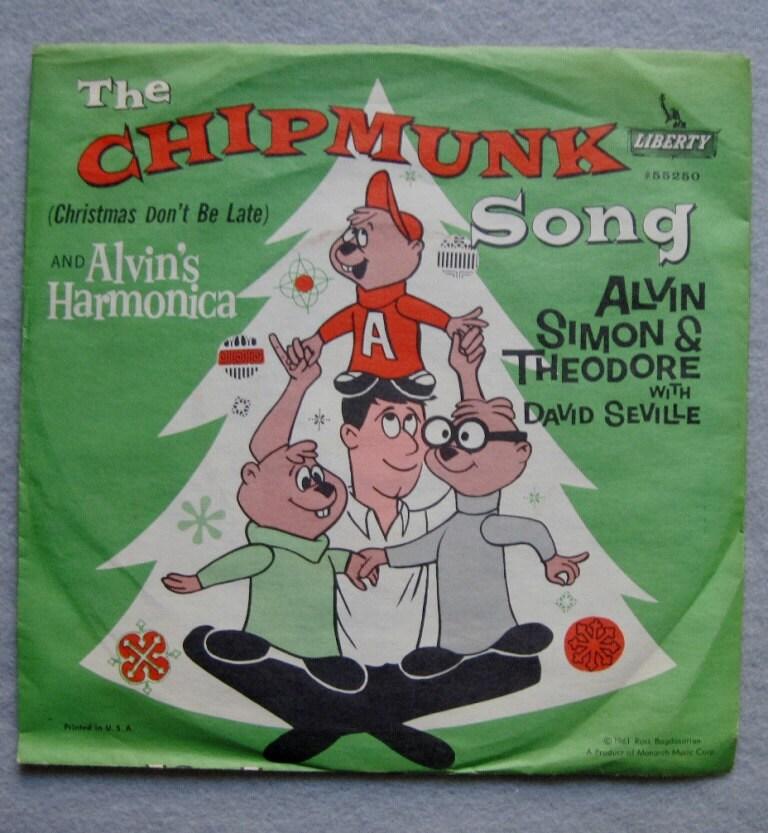Vintage Alvin And The Chipmunks 45 Rpm Vinyl By Luvstephenking