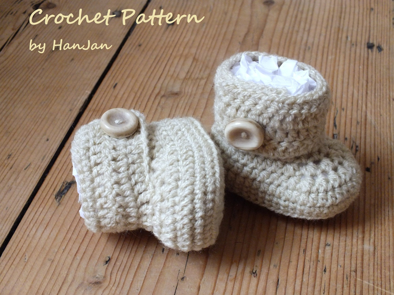 Crochet Wrap Around Button Baby Boots Pattern : 301 Moved Permanently
