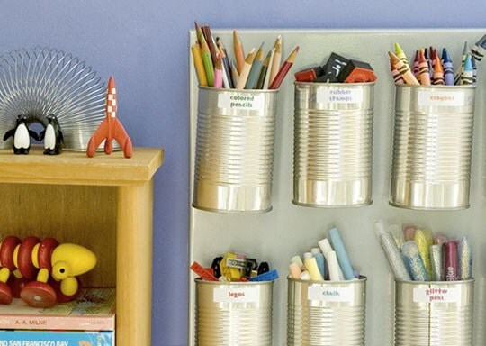 Obscurious Tin Can Wall Organizer