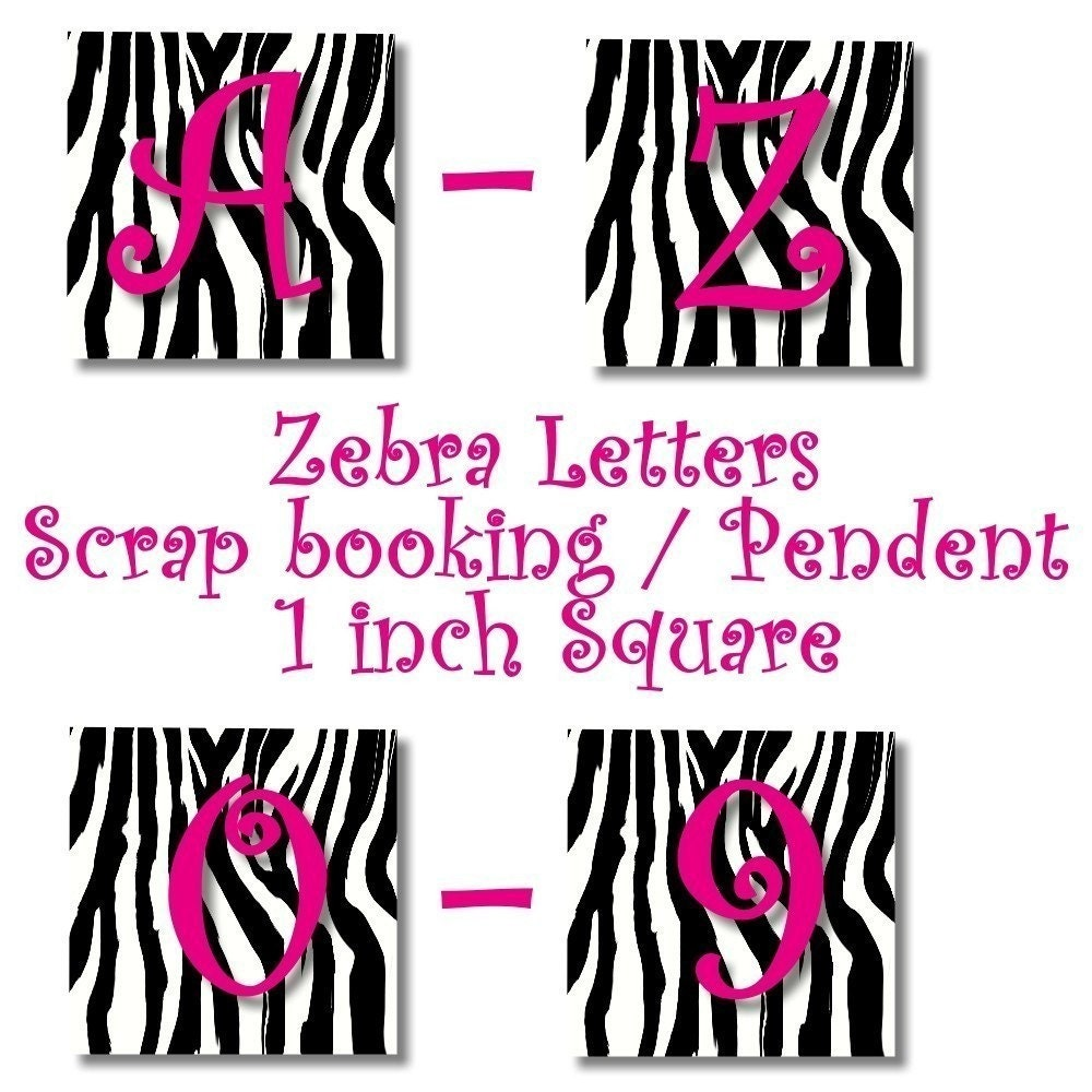 Printable Zebra Letters A Z | Creativeletter.co