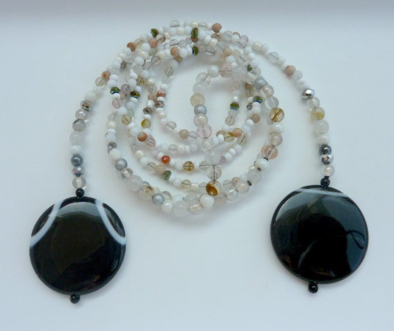 Lucy Sautoir - agate healing cookies mature necklace