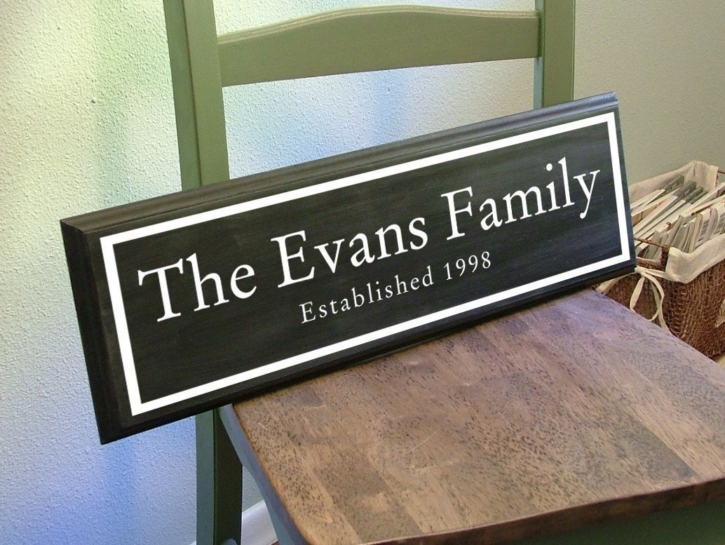The Traditionalist - Custom Personalized Family Name Wood Sign