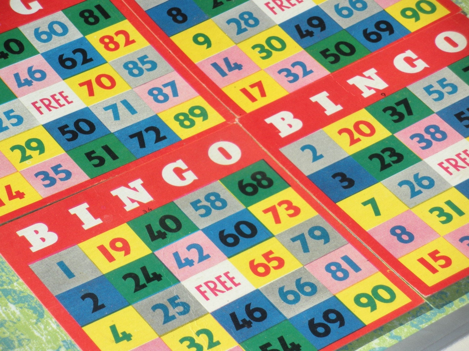 Vintage Bingo Cards ... so many uses