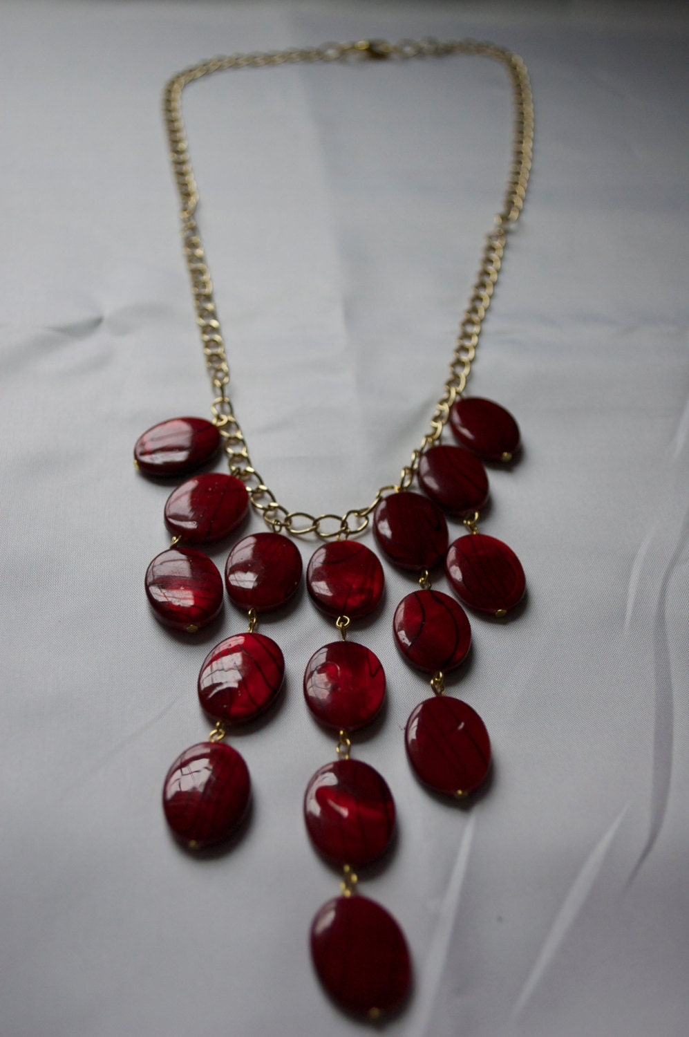 Red Bib Necklace