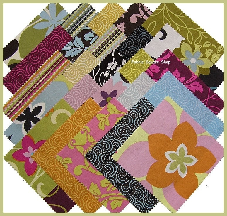 Benartex CITY BLOOMS Charm Pack Fabric Squares Kit