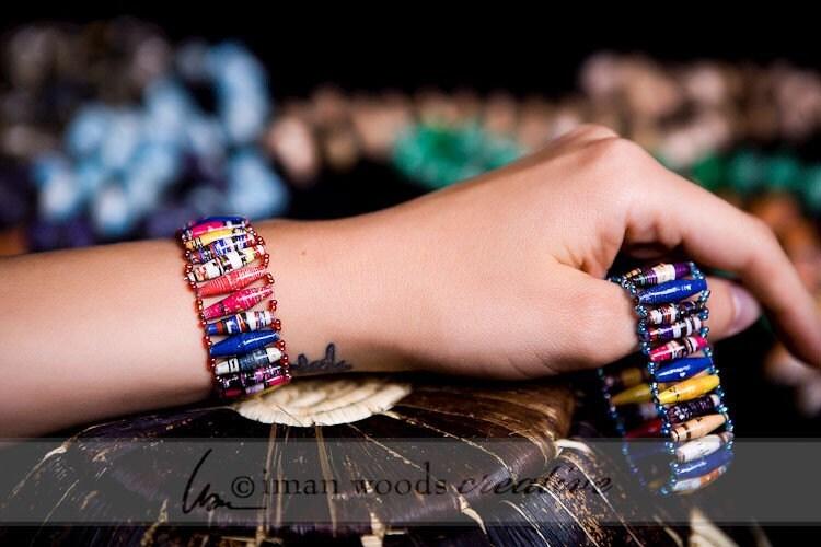 Acholi Bracelet Band, recycled paper