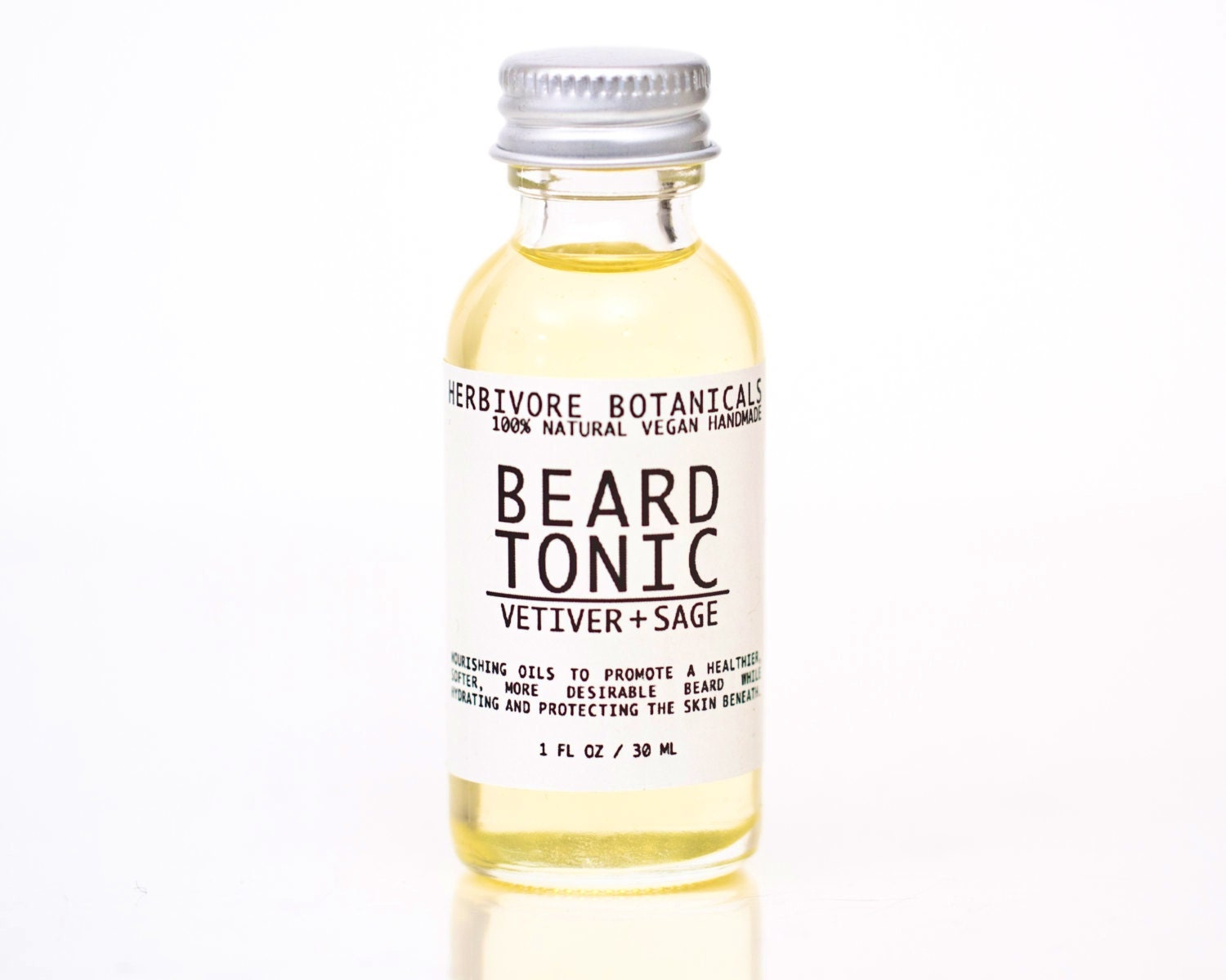 100% Natural Beard Tonic. Beard Conditioner. Mens Gift. - HerbivoreBotanicals
