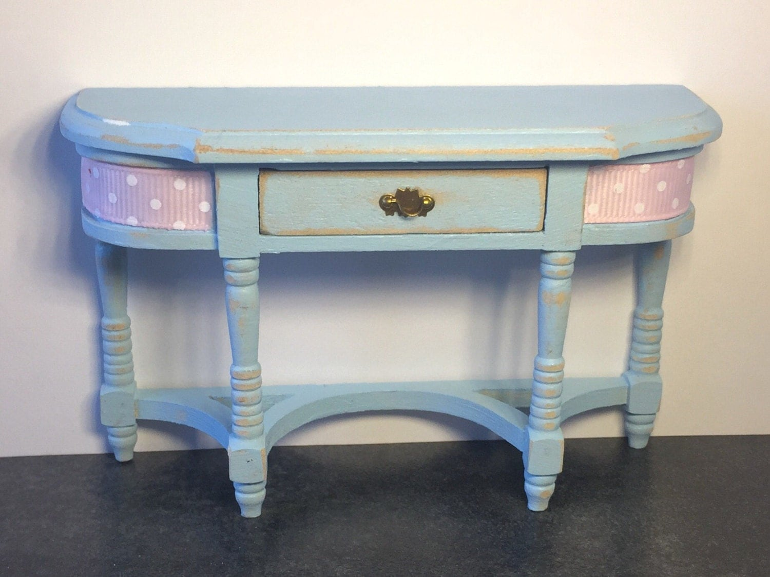 Dolls house miniature furniture shabby console table one twelth scale kitchen