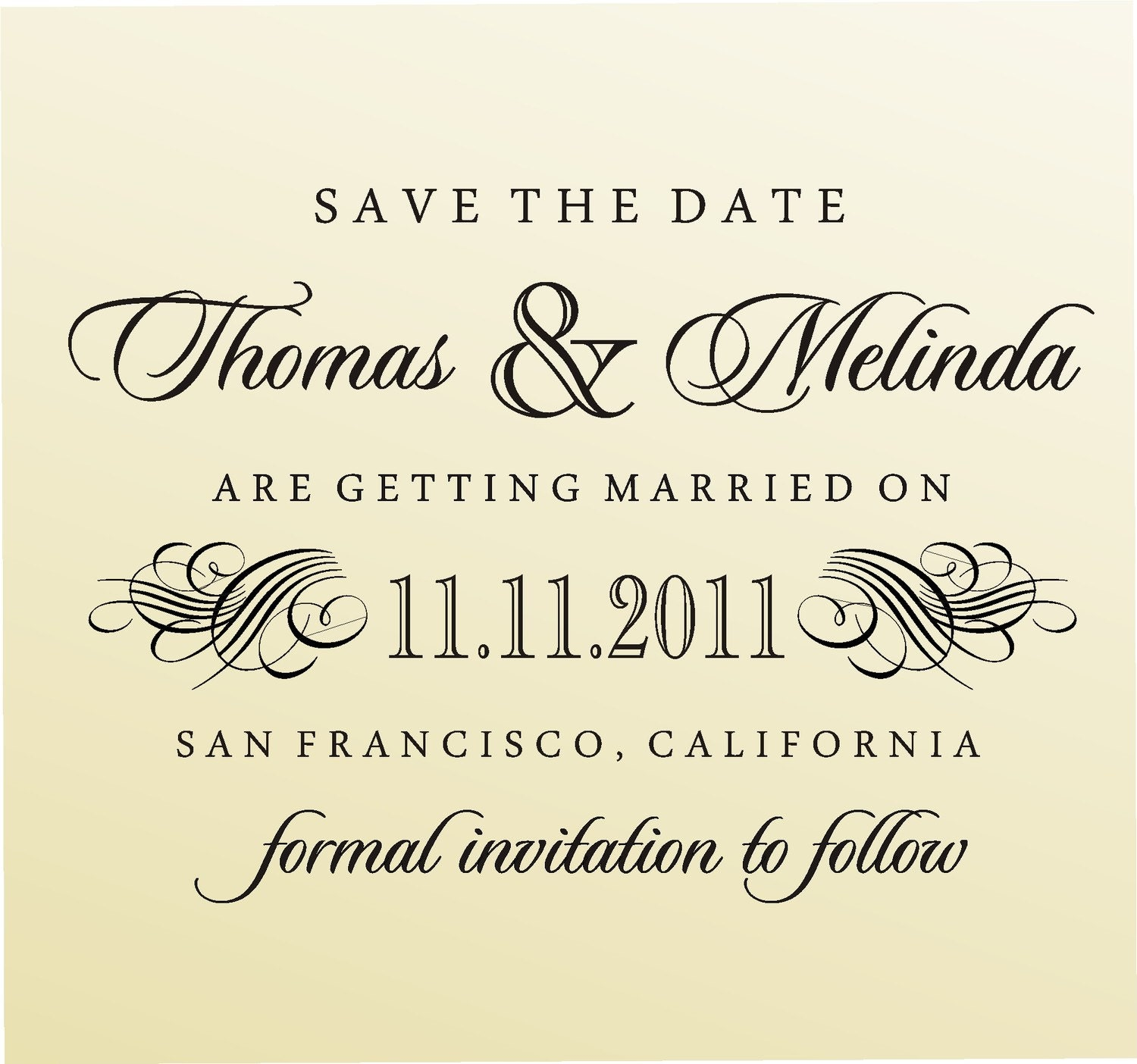 SAVE THE DATE  Self- Inking  Stamp - style 6003- custom wedding stationary