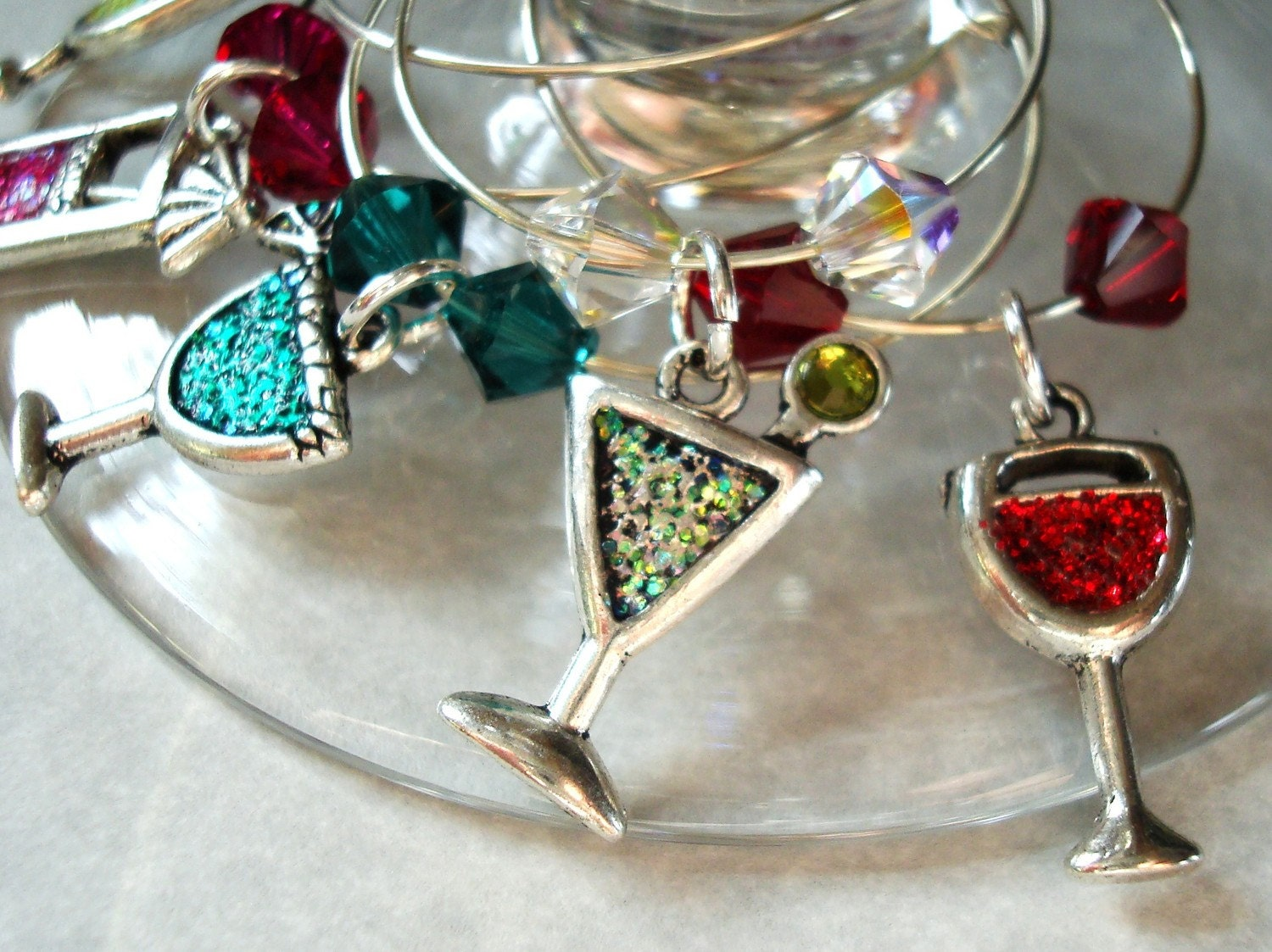Wine Charms Fun Cocktail Assortment set of 5