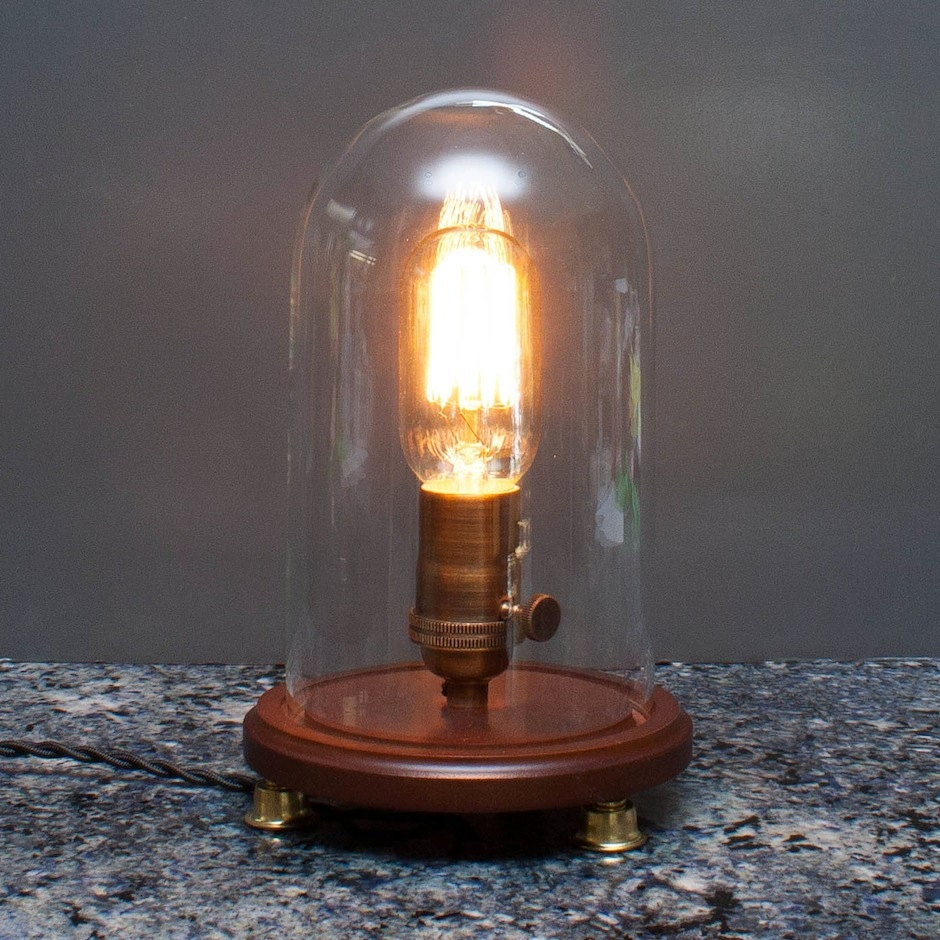 antique edison bulb desk and table lamp vintage by therustedkey. Black Bedroom Furniture Sets. Home Design Ideas