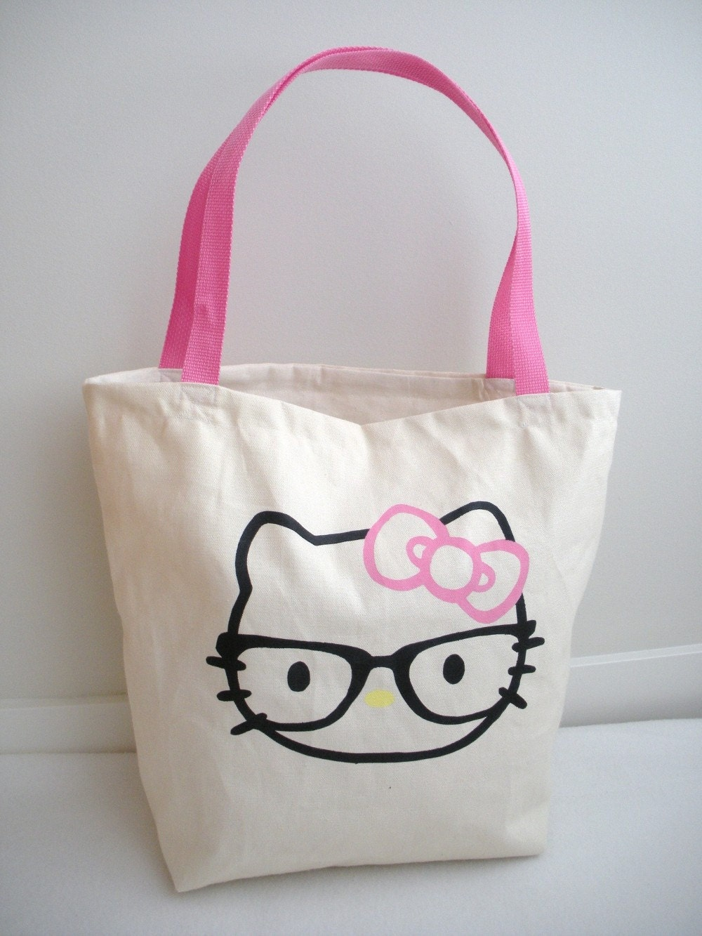 Tote Bag, Hello Kitty X Nerd Inspired, Eco-friendly, Organic Cotton Duck Canvas, Medium
