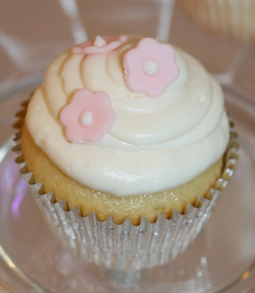 Cupcake and Cake Decos - Fondant Flowers, mini