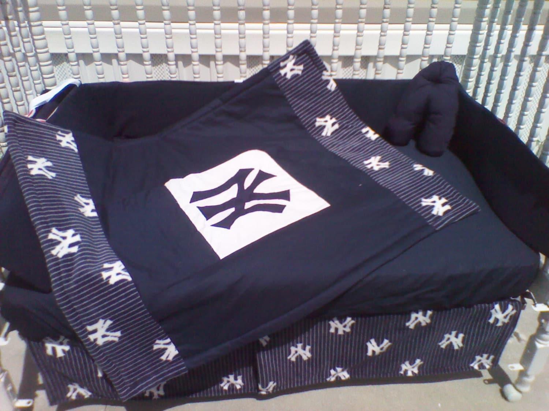 Custom Made New York YANKEES Full Crib By KustomKidsBedding