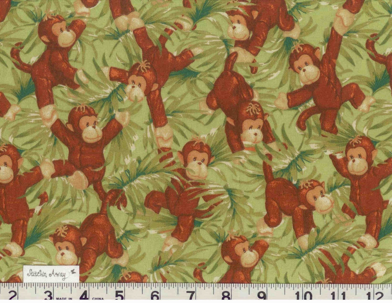 Jungle baby fabric prints bing images for Baby monkey fabric prints