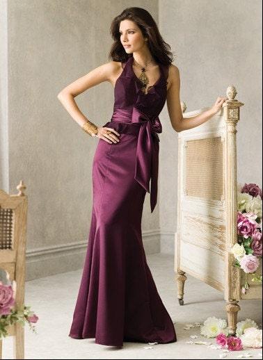 2011 فهرست بنفش هولتر ارسی مشتری فرستاده شده به طراحی لباس ساقدوش عروس