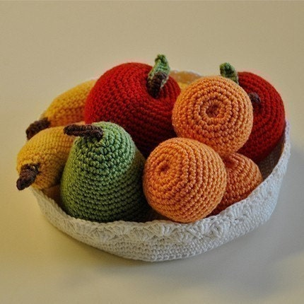 PDF Crochet Pattern - Fruit Bowl