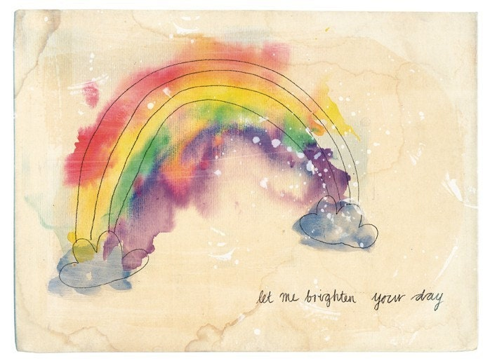 brighten your day art print