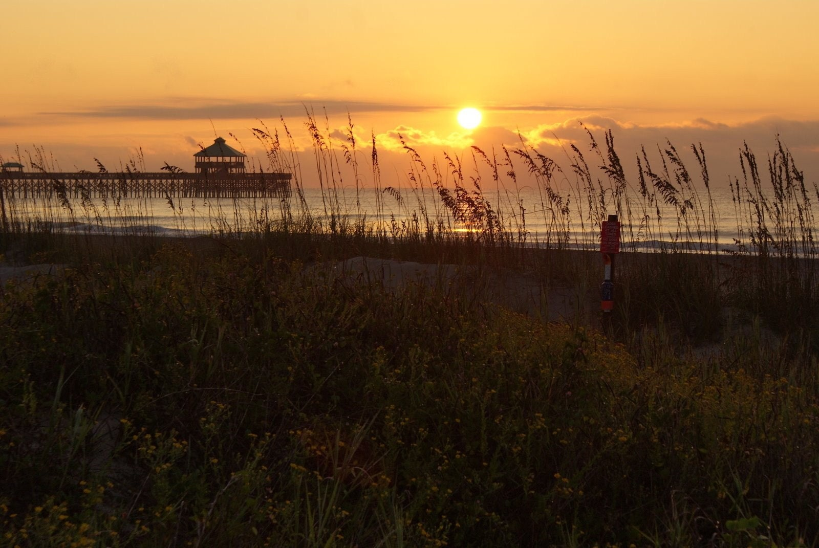 Sunrise at Folly Beach in Charleston, South Carolina