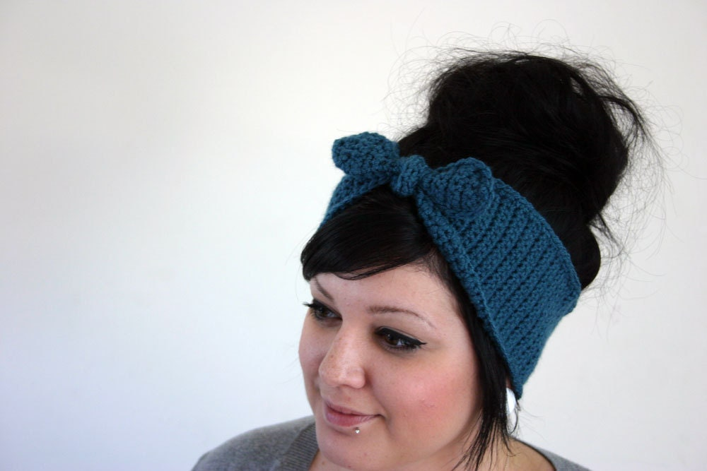 Bombshell Headband/Earwarmer - Teal